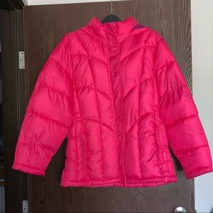 Girls fuchsia winter coat